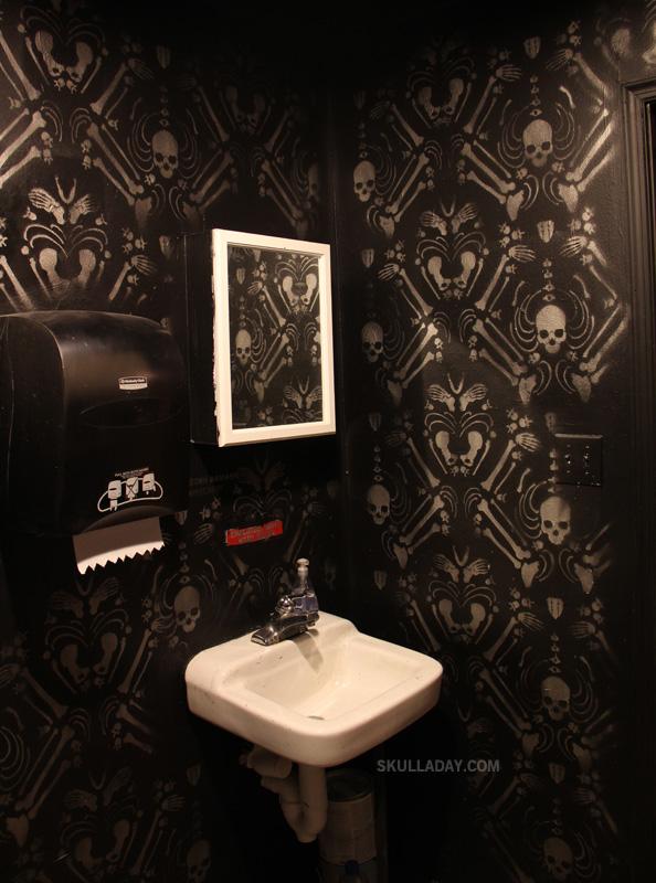 BONUS] 408. Skeleton Damask on large bathroom clip art, bathroom cutting edge stencils, large bathroom decals,