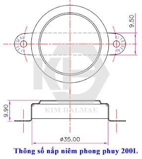 Seal nắp thùng phuy 200L