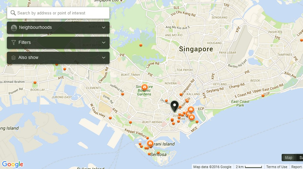 Singapore maps - area and city street maps of Singapore