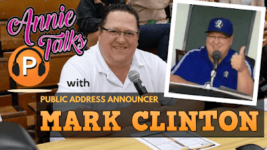 Annie Talks with PA Announcer Mark Clinton