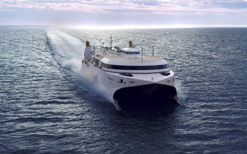 navio mais rápido do mundo com turbinas a jato