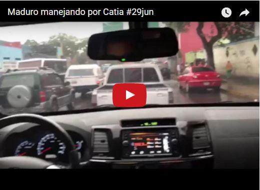 Maduro graba un vídeo quedándose atascado en una cola de Catia