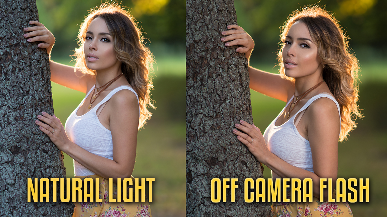 Natural light vs off camera flash