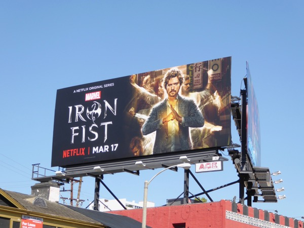 Danny Rand Iron Fist billboard