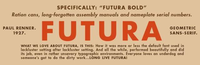 fuss around fonts futura branding typography bootstrap business
