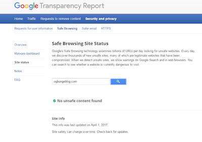 google site status tool