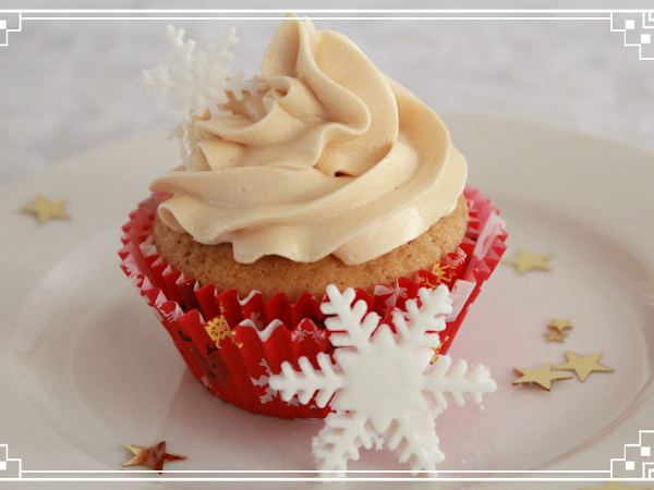 Gingerbread Cupcakes with Salted Caramel Buttercream