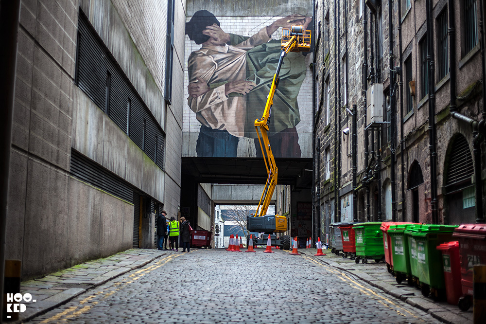 Street Art Mural by Hyuro in Aberdeen, Scotland Photo ©Hookedblog / Mark Rigney