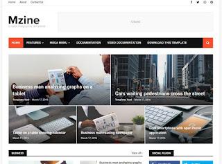 MZine Blogger Template