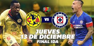 Ver América vs Cruz Azul En vivo 13 de Diciembre 2018 Final Liga MX