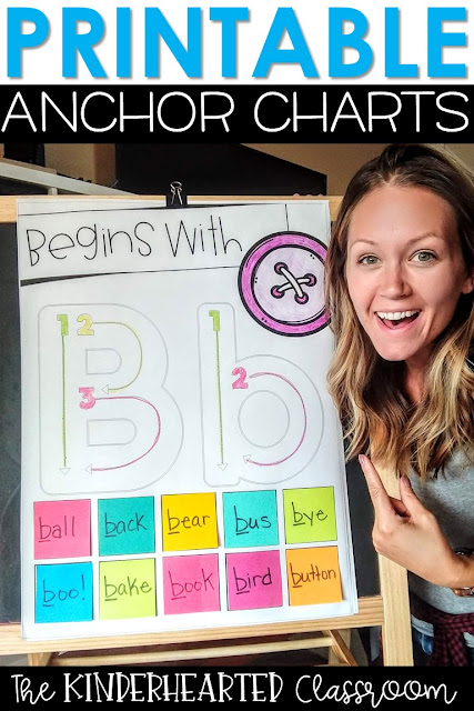 Printable Interactive Anchor Charts The Kinderhearted Classroom