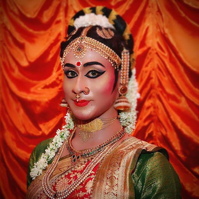 Crossdressing Bharatanatyam Dancer from India