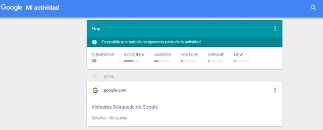 Consulta toda tu actividad gracias a Google