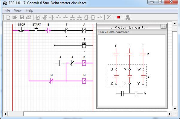 Star-Delta starter circuit