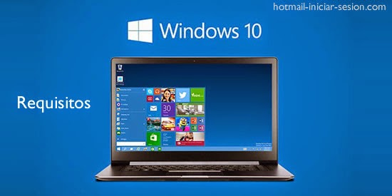 requisiton del sistema windows 10