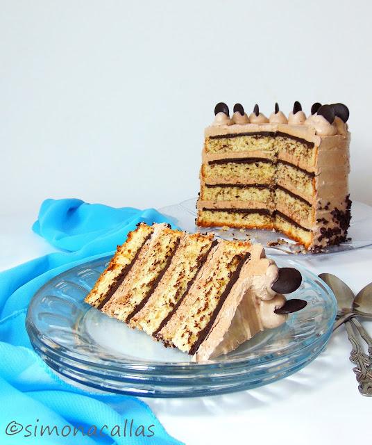Tort cu banane ciocolata si Nutella 1