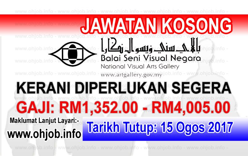Jawatan Kerja Kosong Lembaga Pembangunan Seni Visual Negara logo www.ohjob.info ogos 2017