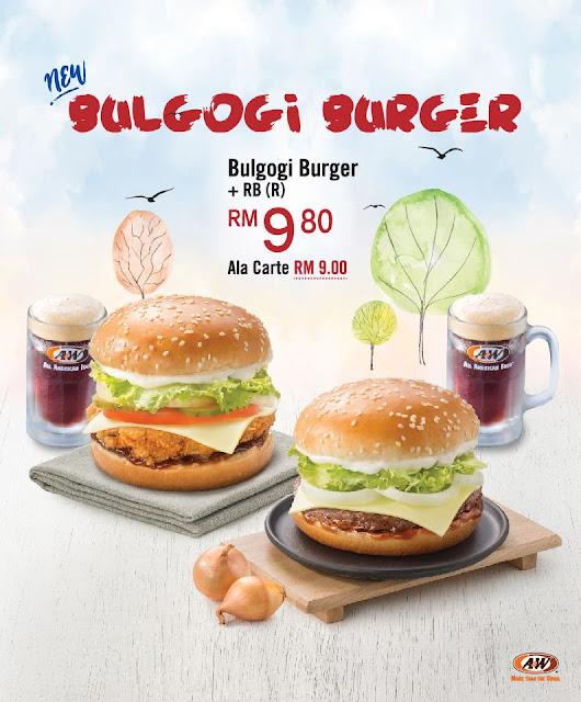 A&W Malaysia Bulgogi Burger Set RB