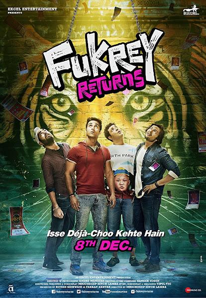 Poster of Fukrey Returns (2017) Full Movie Hindi 720p DTHRip Free Download
