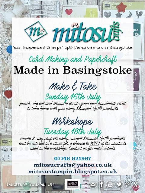 Made In Basingstoke Event Mitosu Crafts Stampin' Up! Make & Take and Workshop