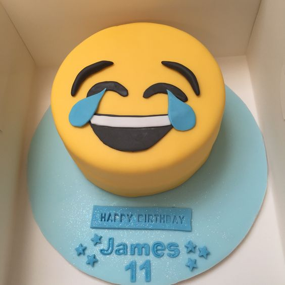 laugh emoji cake