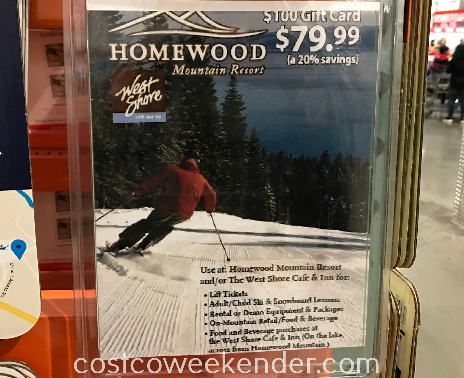 Ski/snowboard and save on a $100 gift card to Homewood Ski Resort in Tahoe