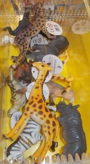 Animals, Cheetah, Giraffe, Monkey, PVC Figurines, PVC Vinyl Animals, PVC Vinyl Rubber, Rhinoceros, Small Scale World, smallscaleworld.blogspot.com, Store Dispenser, Toy Animals, Wilkinson's, Wilko Stores, Zebra,