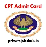CPT Admit Card