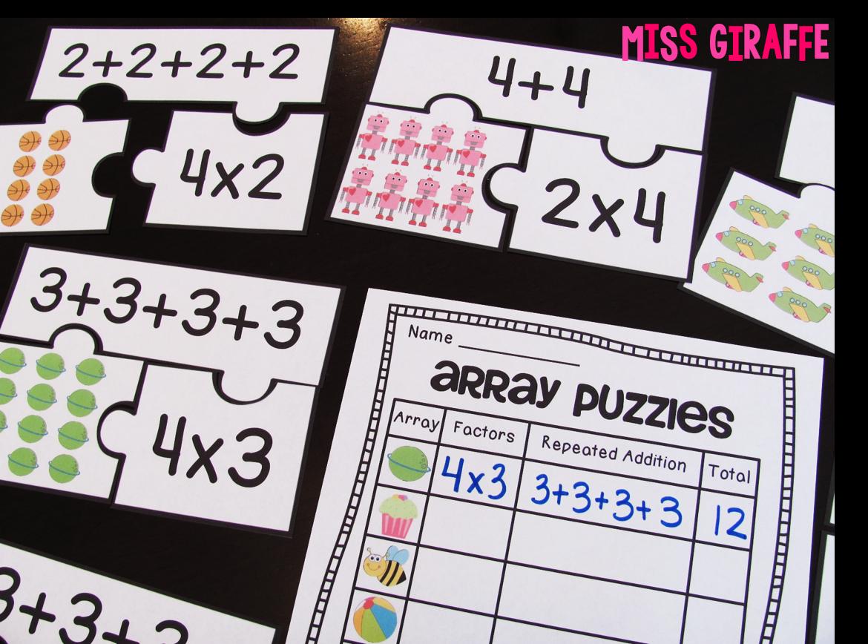 Miss Giraffe's Class: How to Teach Arrays [ 868 x 1170 Pixel ]