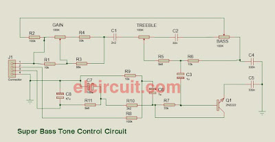 Super Bass Tone Control Circuit Diagram