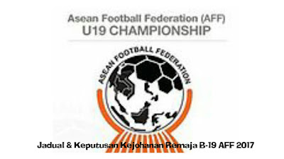 Jadual dan Keputusan Kejuaraan Remaja B-19 AFF 2017