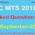 SSC MTS Question Asked on 19 September 2017
