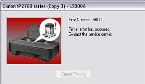 How to Fix error 5B00 on Printer Canon IP2770