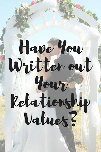 Have you taken the time to discuss and write out five relationship values?
