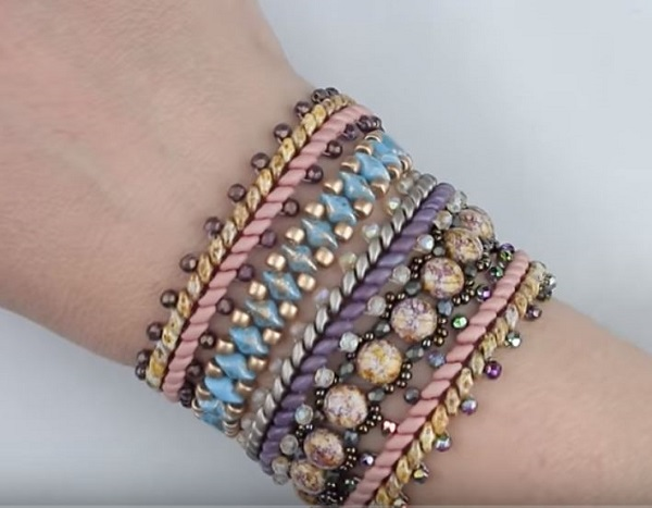 Multi Wrap Beaded Bracelet Tutorial The Beading Gem S Journal