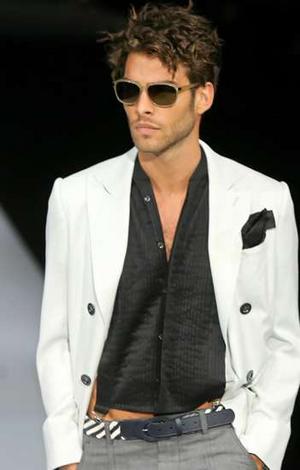 Fashion And Glamour Armani Male Models