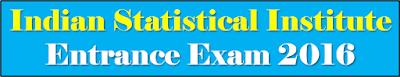 Indian Statistical Institute ISI Entrance Exam 2016