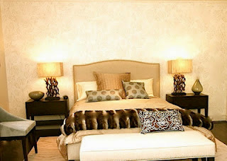 master bedroom using earth tone feng shui colours