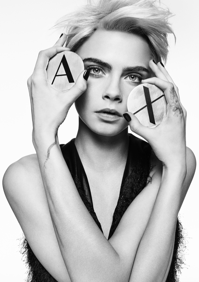 Cara Delevingne Gets Her Closeup in Armani Exchange's Fall 2017 Campaign
