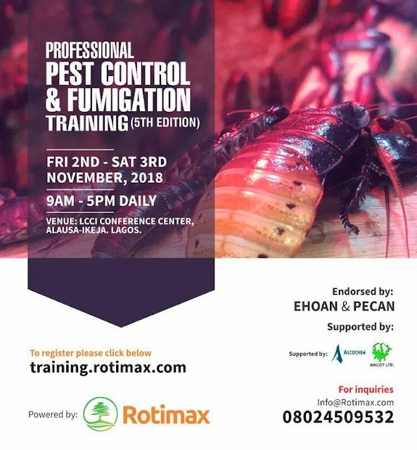 Internationally accredited fumigation and pest control training