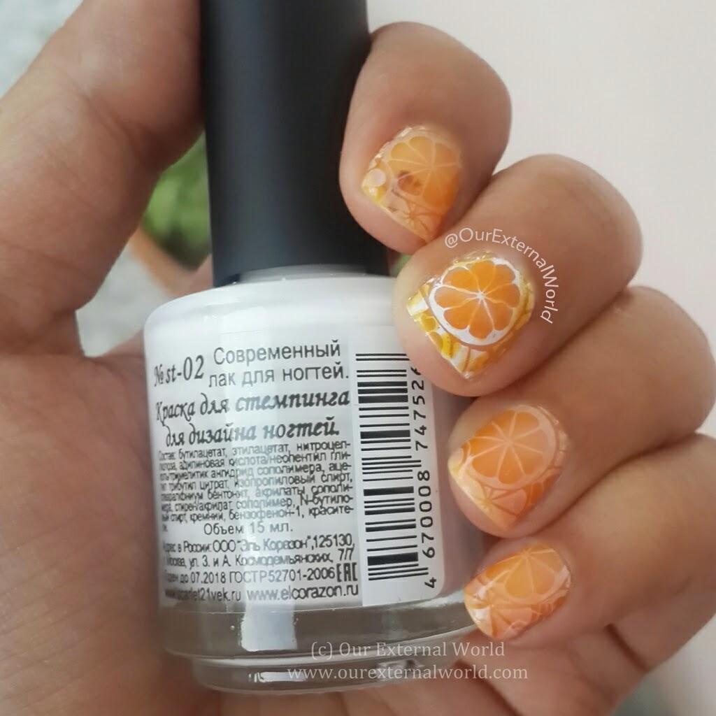 El Corazon Aquarelle Tints Stamping Polish Review Nail Art