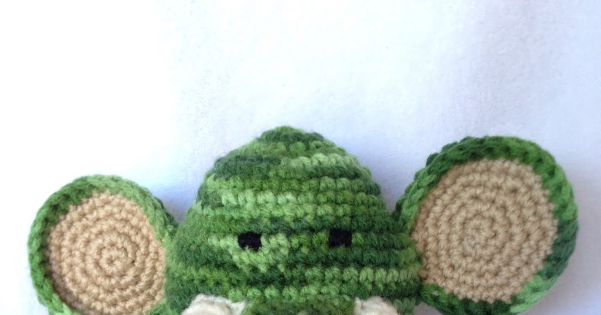 Free Crochet Pattern For Elephant Ears : Krazy Kabbage: Amigurumi Elephant Ears Free Pattern
