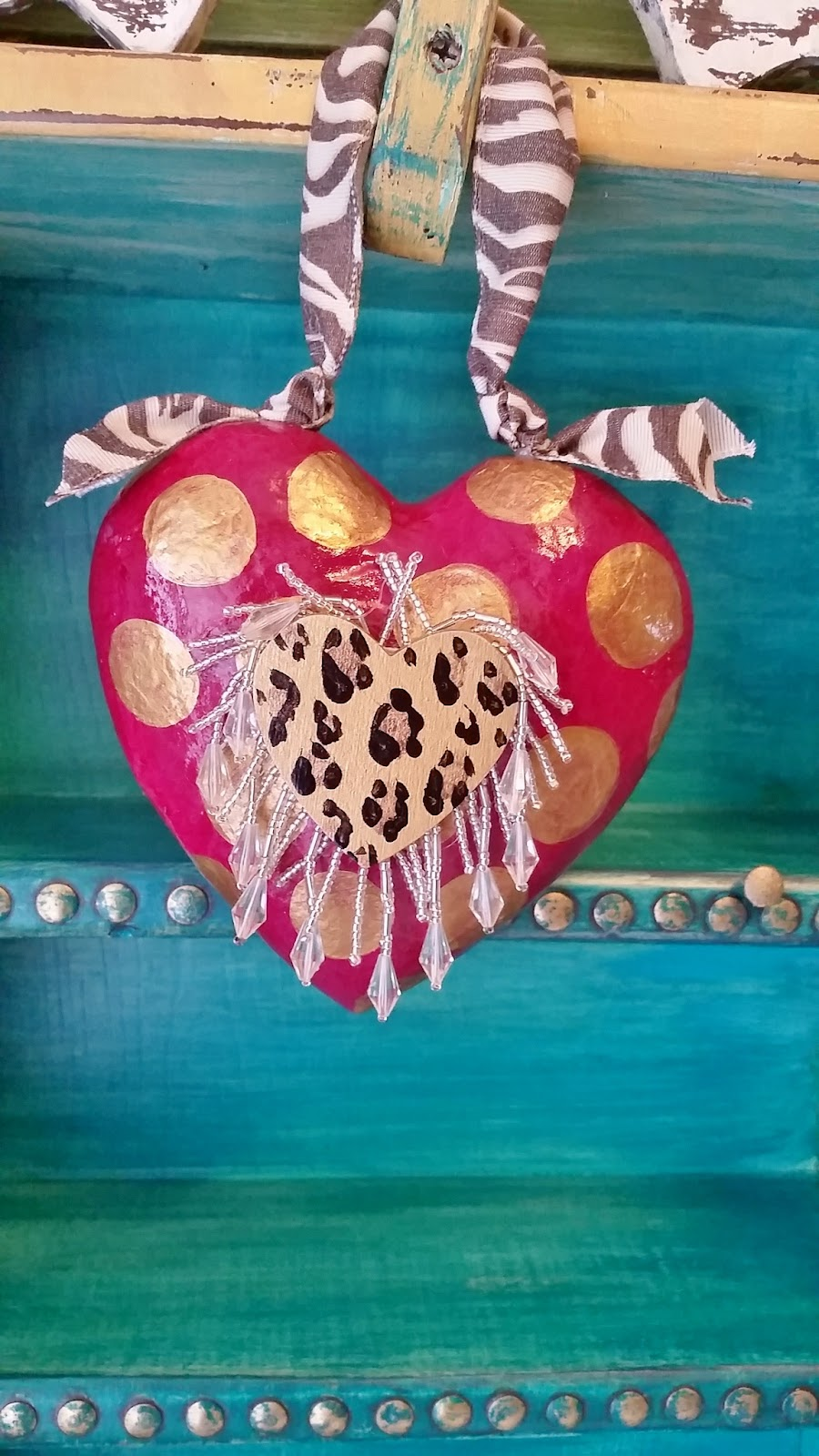 Valentine ornament animal print and leopard ornament
