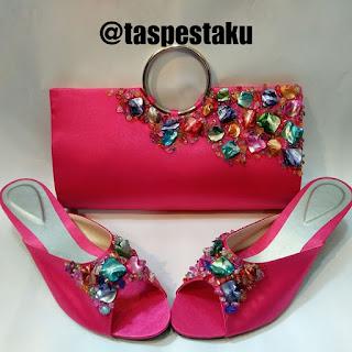Tas Pesta Sandal Pesta Pink Fanta Cantik Match