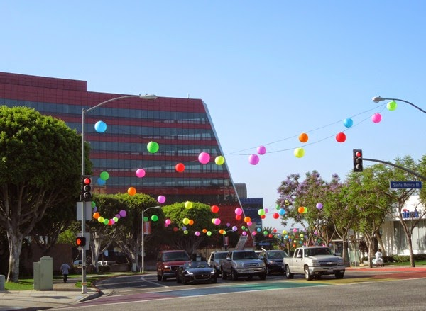 West Hollywood Pride paper lantern decorations