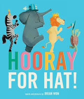 Hooray for Hat! book cover with animals marching in hats