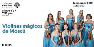 Concierto Violines mágicos de Moscú en Bogotá