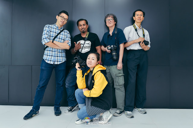 A group self-portrait with my Nikon team members after complete our shooting!
