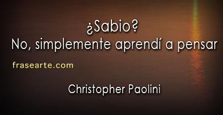 Christopher Paolini - frases sabias