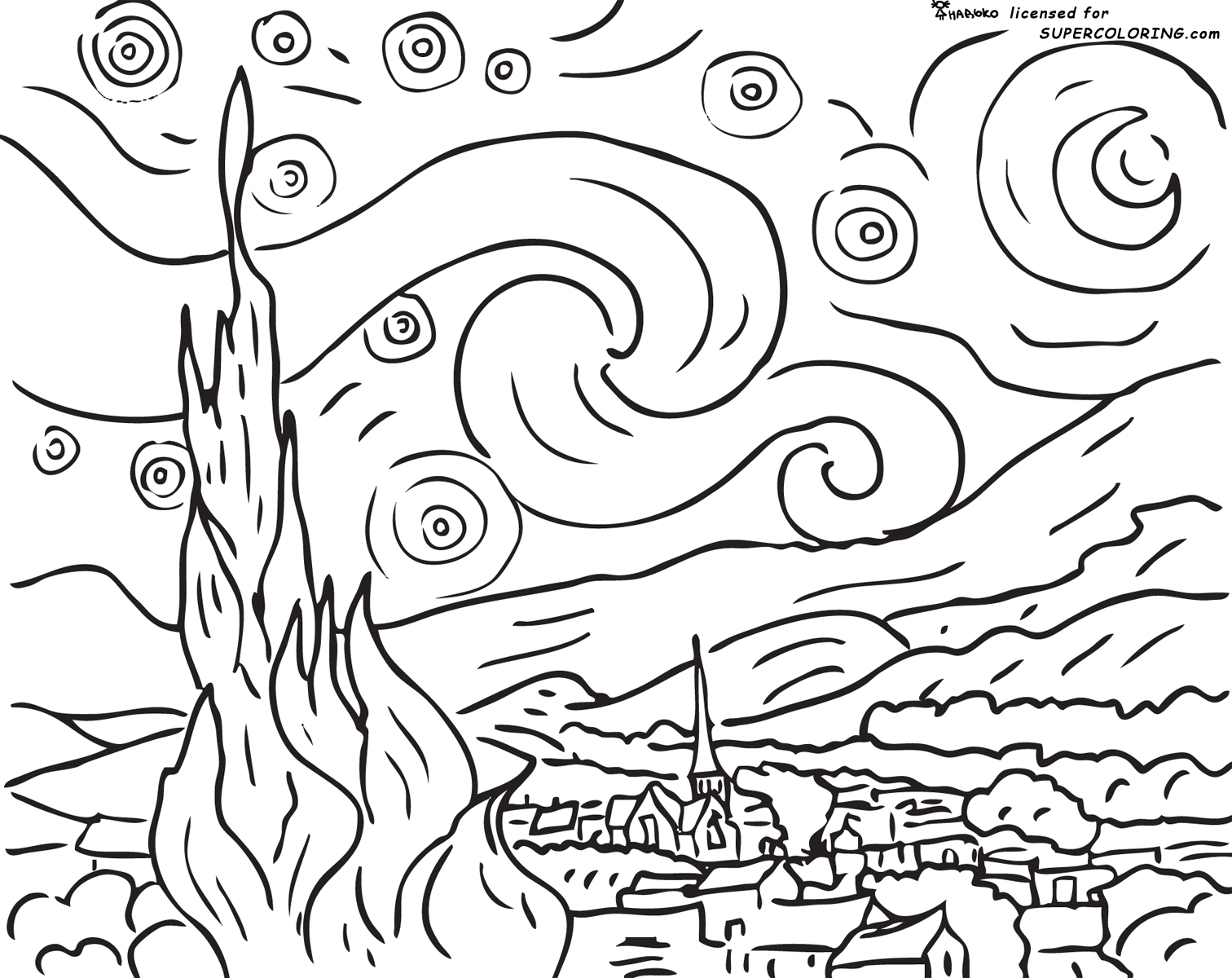 n is for night coloring pages-#34